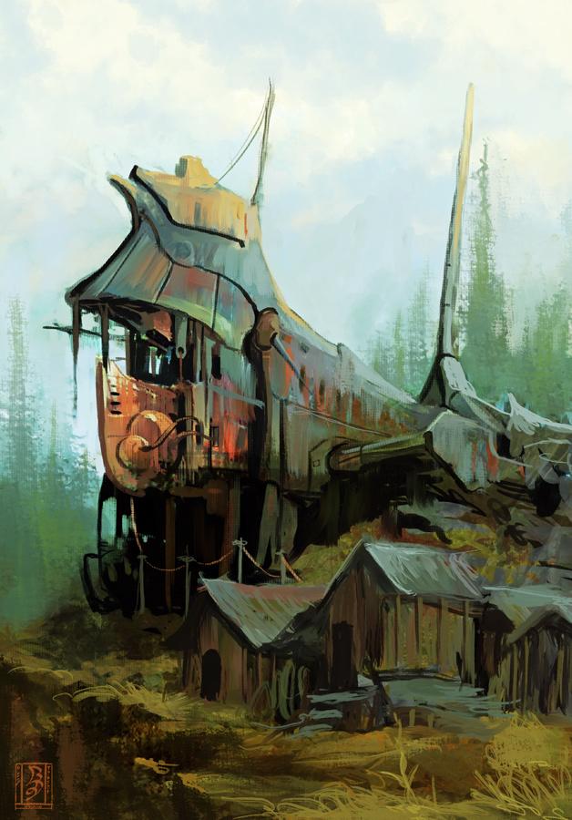 shipwreck by WanderingInPixels