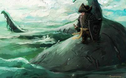 shark rider by WanderingInPixels