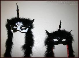 Unicorn Masks in leather