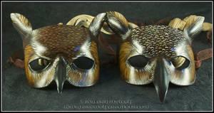Great Horned Owl leather masks