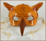 Sepia Gryphon leather mask