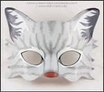 Gray Tabby Cat handmade leather mask