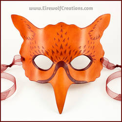 Ginger Gryphon or Hippogriff mask by EirewolfCreations