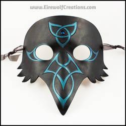 Celtic Raven handmade leather mask by EirewolfCreations