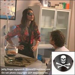 The Magicians Margo wearing Jolly Roger eyepatch by EirewolfCreations