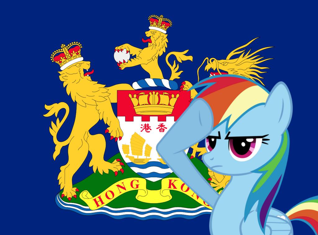 Rainbow Dash salutes Hong Kong by InfinityR319