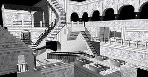 Escher Relativity by NIHIL-XIII