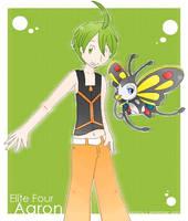 Sinnoh Elite4 Aaron by aurora-neko