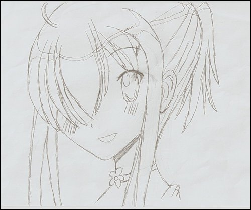 Hand Drawn Anime Girl By Animeangelzoee