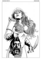 Red Sonja 33 Cover by FabianoNeves