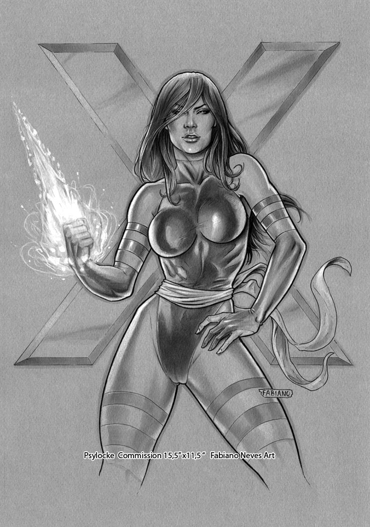 Psylocke Commission by FabianoNeves