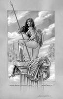 Wonder Woman Commission 02 by FabianoNeves