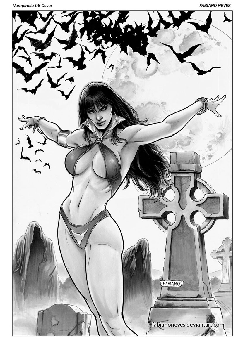 Vampirella 06 Cover by FabianoNeves