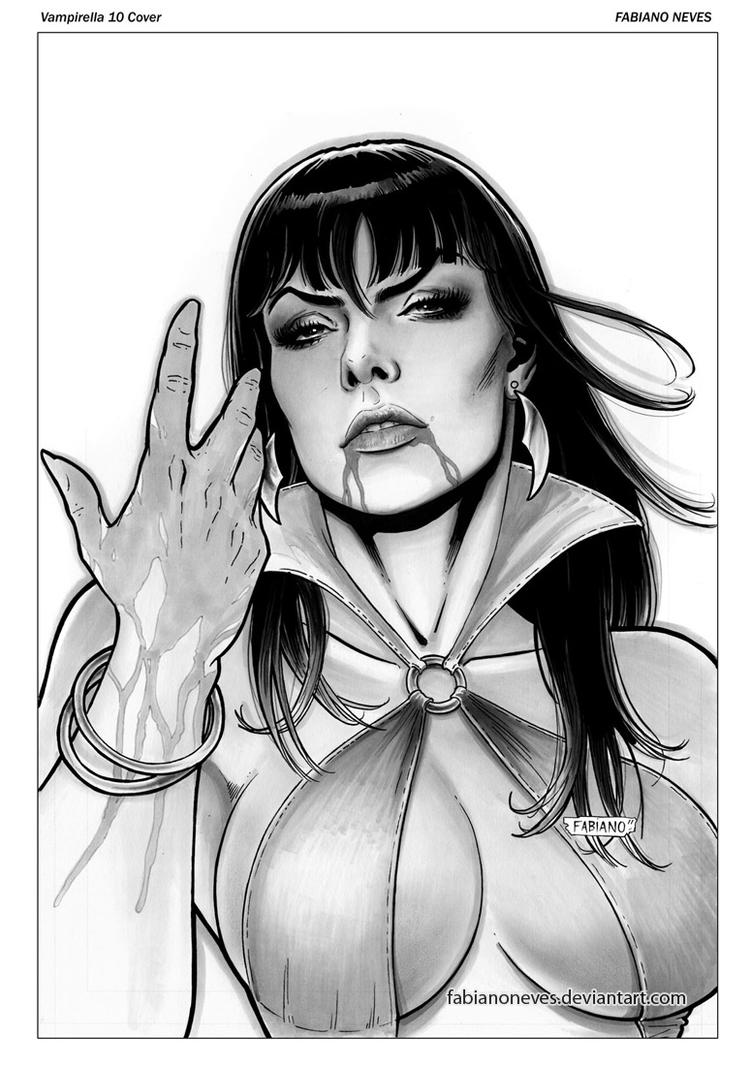 Vampirella 10 Cover by FabianoNeves
