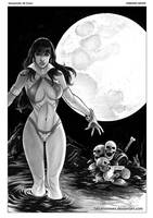 Vampirella 16 Cover Art by FabianoNeves