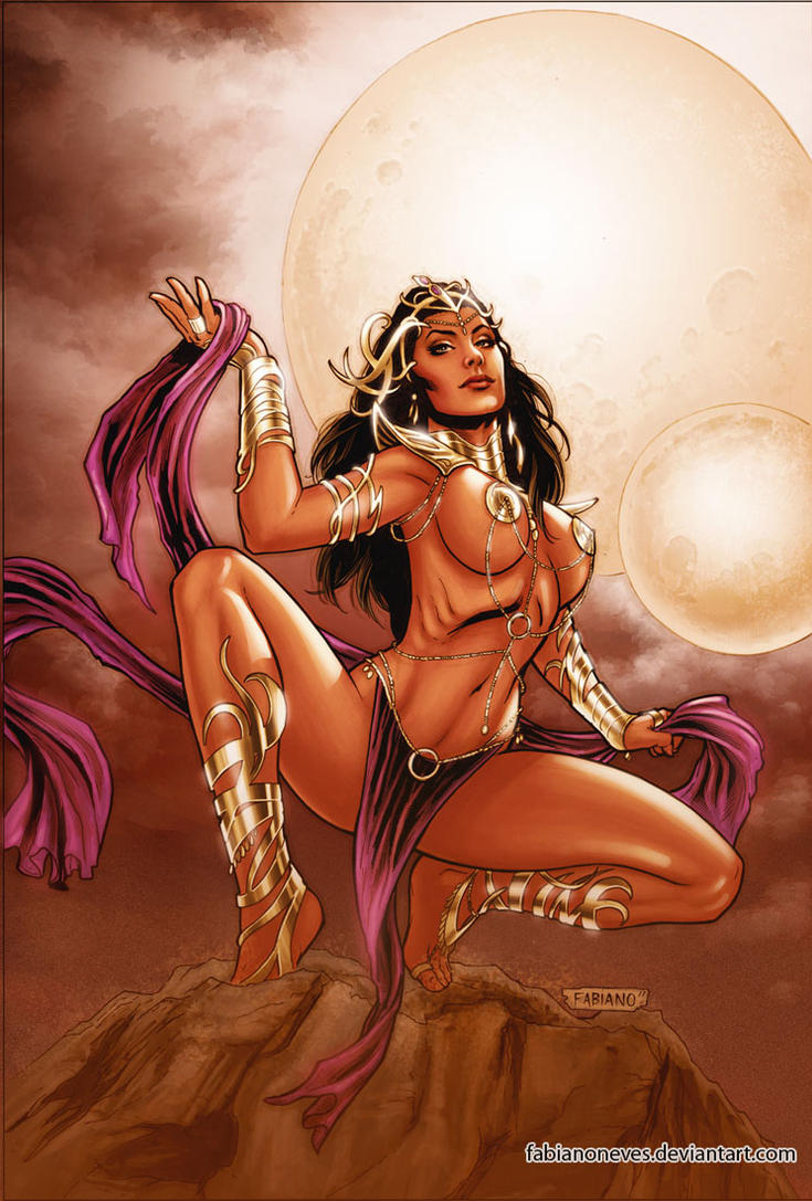 Dejah Thoris 11 Cover Colors by FabianoNeves