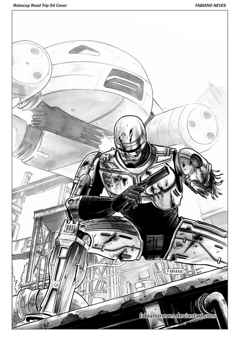 Robocop Road Trip 04 Cover by FabianoNeves