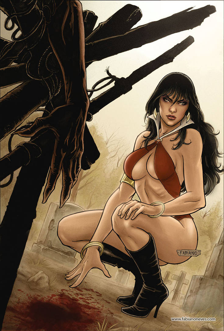 Vampirella 25 Cover Colors by FabianoNeves