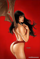 Vampirella Strikes 05 Cover Colors by FabianoNeves