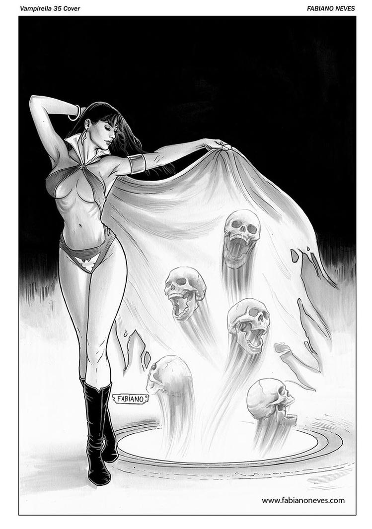 Vampirella 35 Cover inks by FabianoNeves
