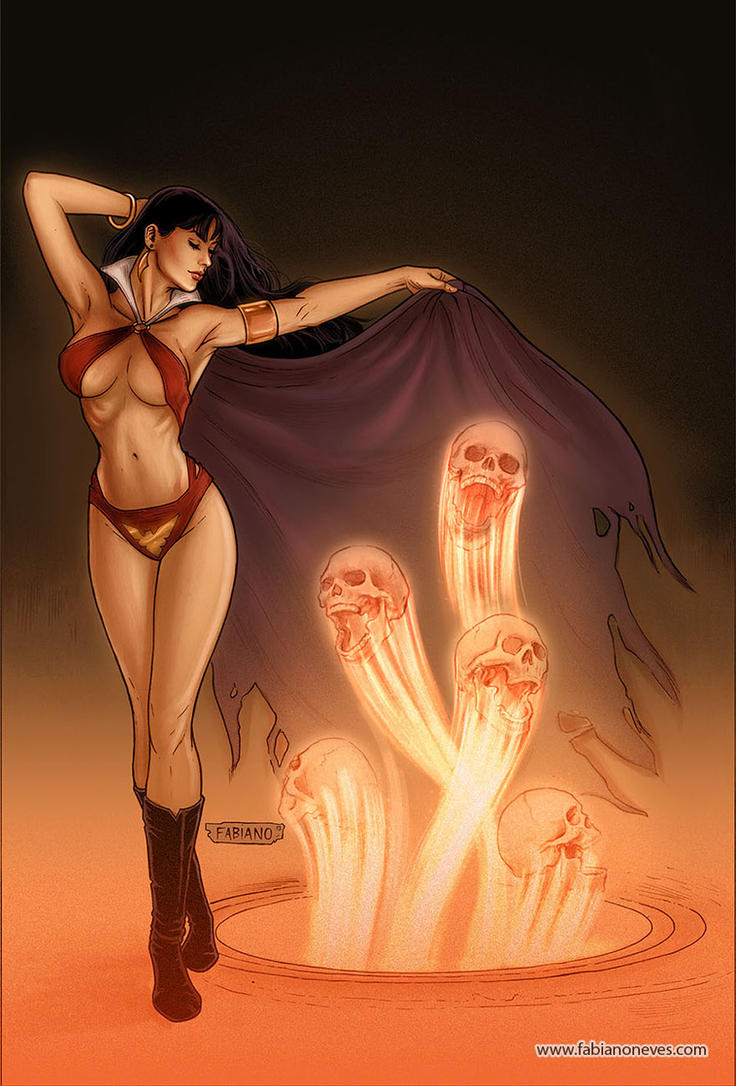 Vampirella 35 Cover Colors by FabianoNeves