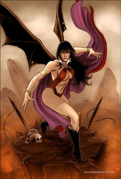 Vampirella 38 Cover colors