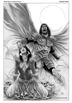 Blood Queen vs Dracula Cover 01 inks