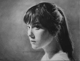 Mary Elizabeth Winstead pencil drawing