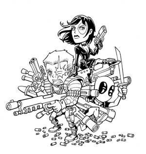 Deadpool Cable Domino
