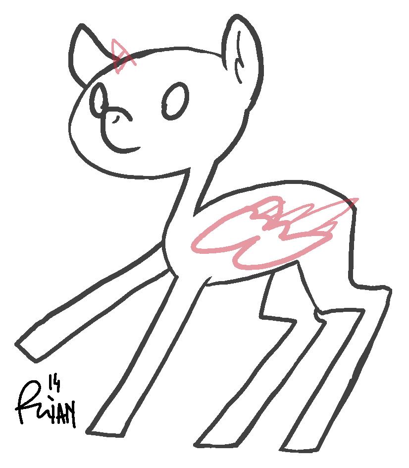 F2U derp pony base by owlso
