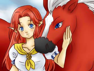 Epona and Malon by Mafriplc