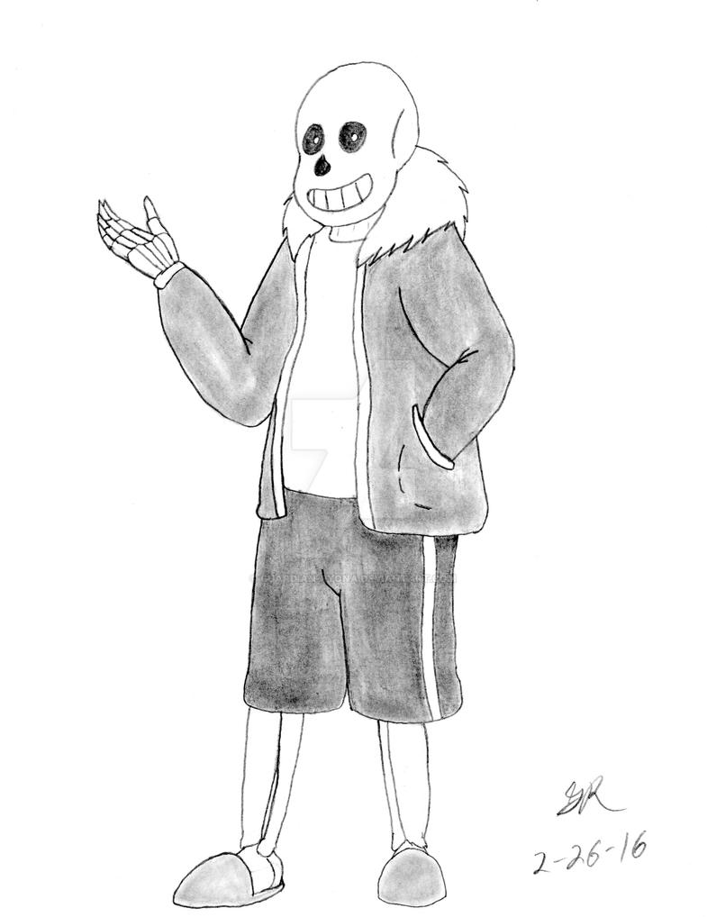 Sans the Skeleton by Guardian-Ryona