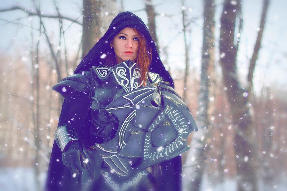 Skyrim.Imperial in ebony armor_3 by Elen-Mart
