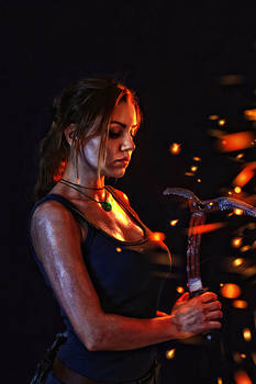 Rise of the Tomb Raider. In fire