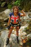 Tomb Raider: Legend, near waterfall