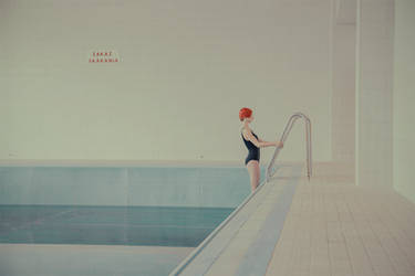 in swimming pool she by mariasvarbova