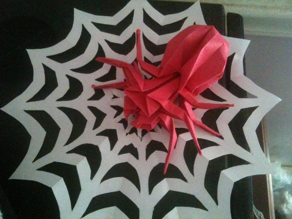 Paper Spider by Dragongirl269