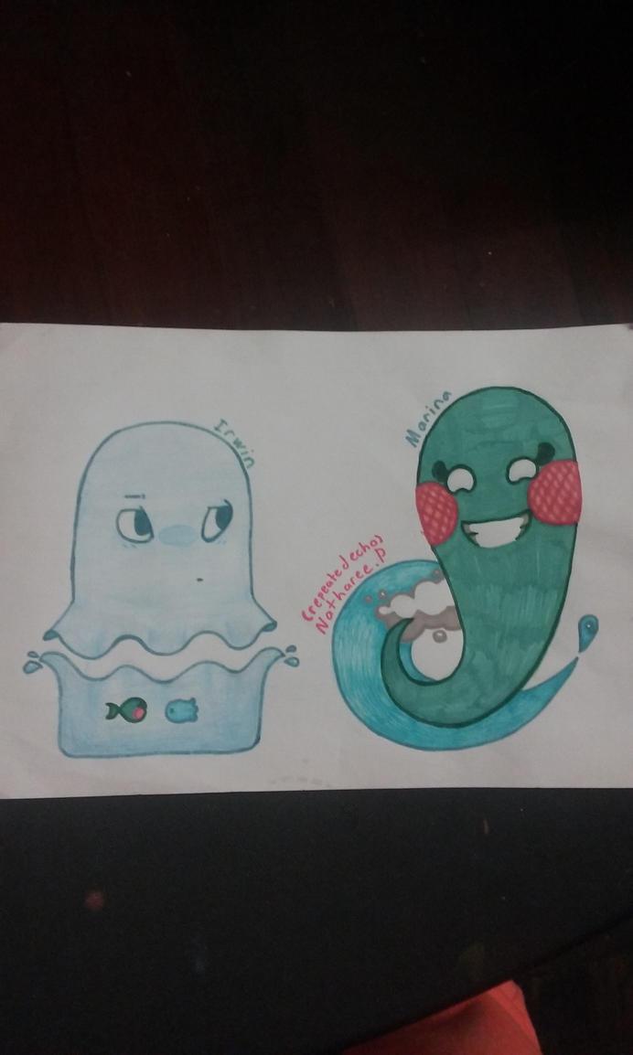 Cute ghosts by repeatedecho