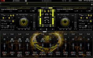 Skin Alien Yellow For Virtual DJ 7 by THERECORDBLACK01