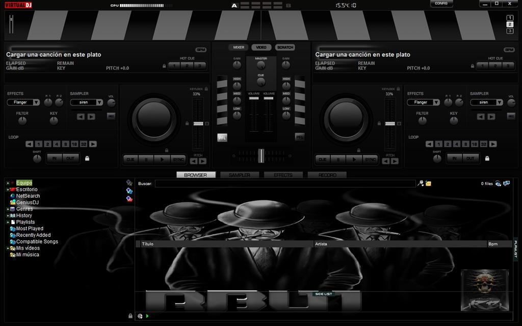 New Skin Mafia For Virtual DJ 7 2013 by THERECORDBLACK01
