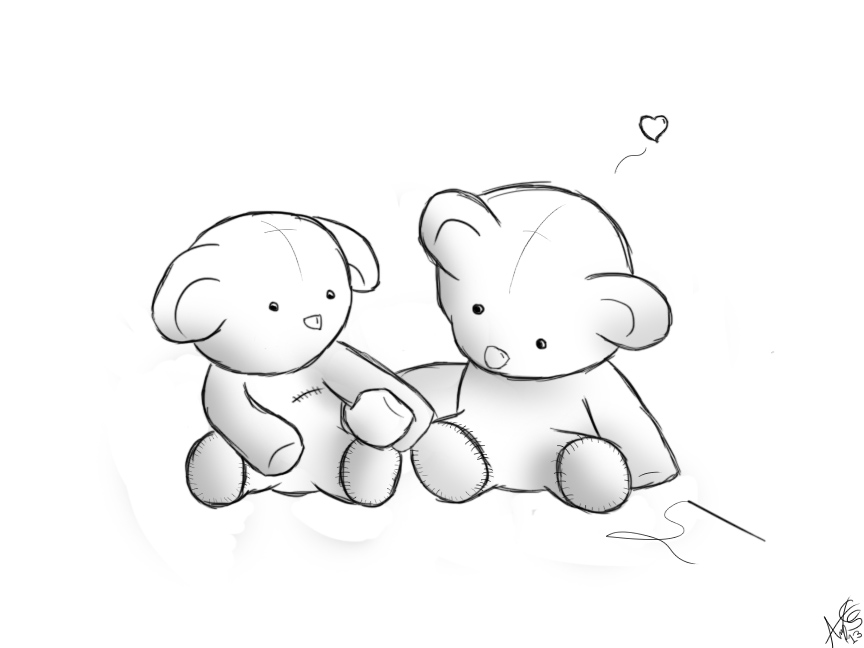 How To Draw Love Teddy Bear