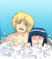 NaruHina in the bath part 1 by Cocodoo