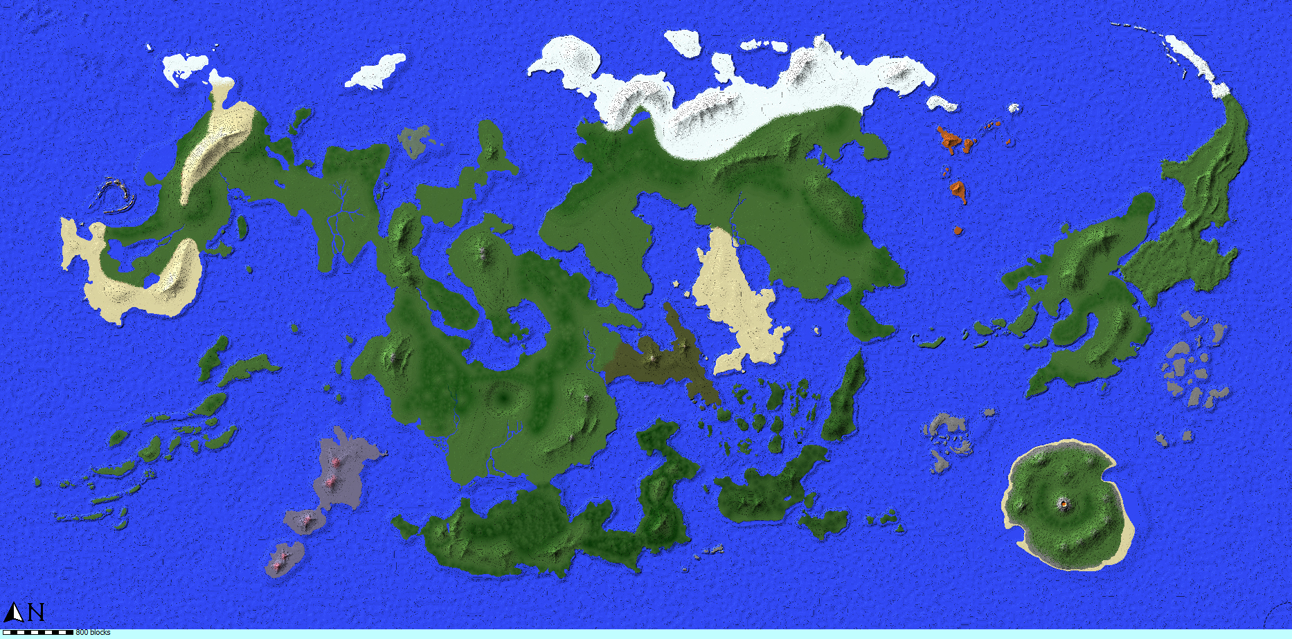 Minecraft Map World Painter Island