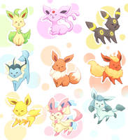 Eeveelutions by Inedible-Sushi
