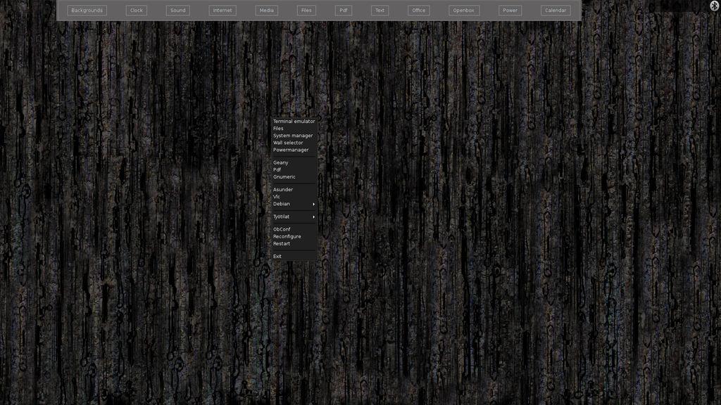 Current desktop (and a development screenshot)