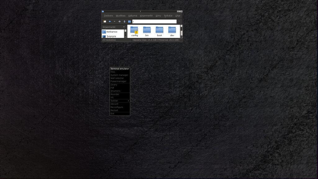 Desktop dev. screen