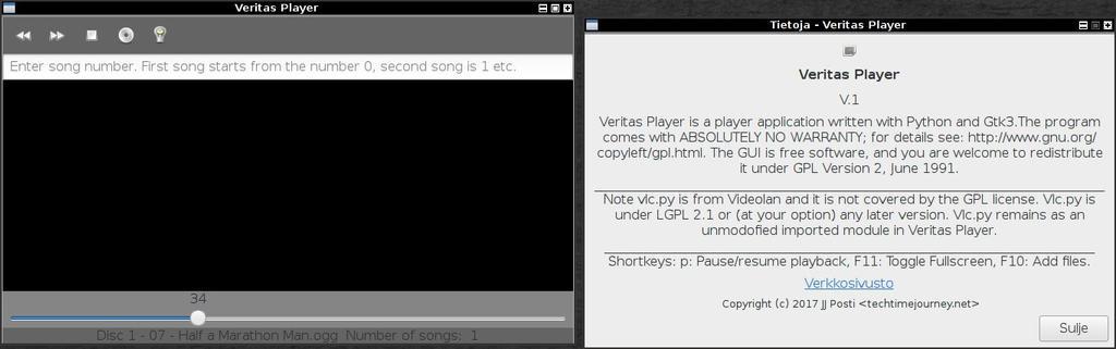 Veritas Player(Python/Gtk3)