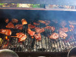 Cooking BBQ meat by ak1508
