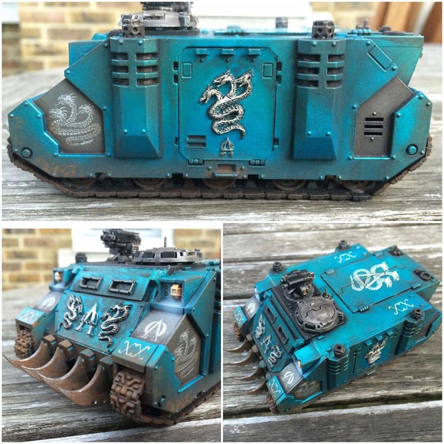 Alpha Legion Rhino by ak1508