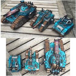Alpha Legion Glaive, Sicaran Venator and Scorpius by ak1508